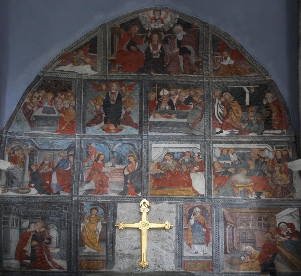 Preziosi affreschi a Salbertrand