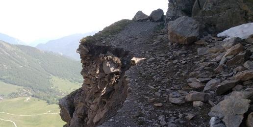Avviso smottamento nel Parco Orsiera Rocciavrè