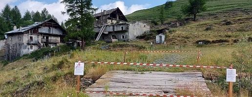 Pragelato: pericolosità ruderi in frazione Laval e Joussaud