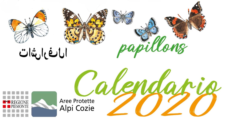 Dedicato alle Farfalle il celendario 2020 dei Parchi Alpi Cozie