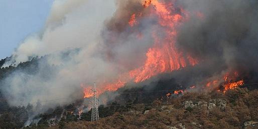Dichiarato lo stato di massima pericolosità per gli incendi boschivi